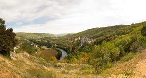 Panorama Saint-Cirq-Lapopie France Stock Photo