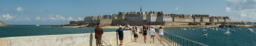 Panorama Saint-Malo Stock Photography