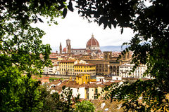 Panorama of Saint Mary cathedral in Florence, Italy. royalty free stock image