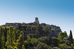 Panorama of Saint-Paul de Vence. Stock Images