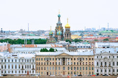 Panorama of Saint Petersburg - bird's-eye view Stock Photography