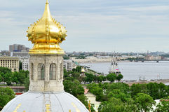 Panorama of Saint-Petersburg from height, Russia Stock Images