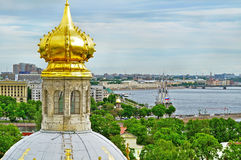 Panorama of Saint-Petersburg from height, Russia Royalty Free Stock Images