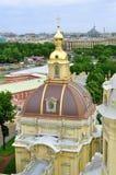 Panorama of Saint-Petersburg from height Stock Photos
