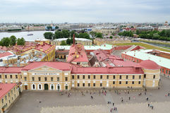 Panorama of Saint-Petersburg, Russia from a height Stock Photography