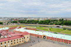 Panorama of Saint Petersburg, Russia from a height Stock Image