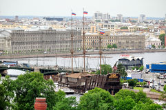 Panorama of Saint Petersburg, Russia from a height Royalty Free Stock Images