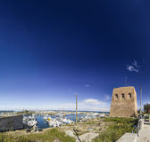 Panorama saint seal apulia beach Royalty Free Stock Photo