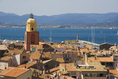 Panorama of saint-tropez Stock Images