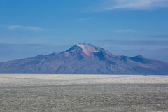 Panorama of the Salar of Uyuni with blue sky, Bolivia Stock Photos