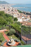 Panorama of salerno. City ​​landscape urban landscape seen from above Royalty Free Stock Photos