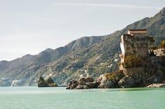 Panorama of Salerno. Vietri sul Mare coast, beach and views of the Amalfi Coast stock photo