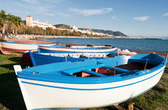 Panorama of Salerno. View of the Gulf of Salerno royalty free stock image