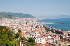 Panorama of Salerno. View of the Gulf of Salerno royalty free stock photo