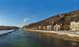 Panorama - Salzburg Österrike Arkivfoto