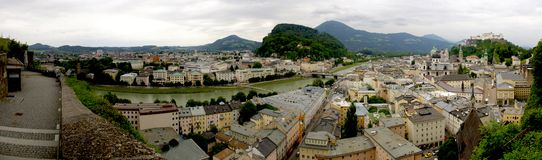 Panorama of Salzburg Royalty Free Stock Photo