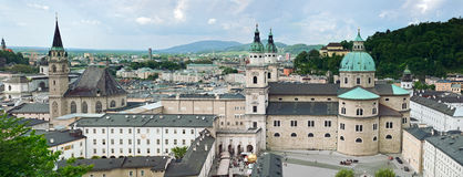 Panorama of Salzburg Royalty Free Stock Image