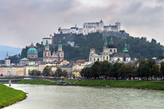 Panorama of Salzburg Stock Photo