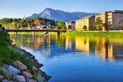 Panorama Salzburg in Austria Stock Image