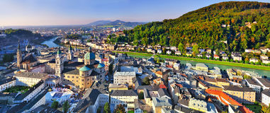 Panorama Salzburg Stock Photo
