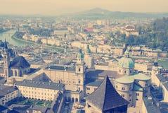 Panorama of Salzburg. Austria. Stock Images