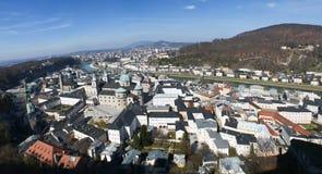 Panorama of Salzburg Stock Photos