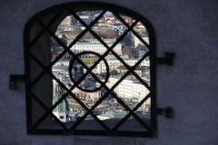 Panorama of Salzburg stock photo