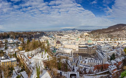Panorama of Salzburg from Hohensalzburg Castle, Austria Stock Photo