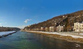 Panorama - Salzburg Oostenrijk Stock Foto