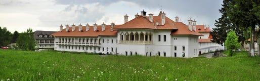 Panorama of Monastery Sambata de Sus royalty free stock photos