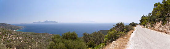 Panorama of Samos Royalty Free Stock Images