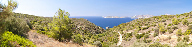 Panorama of Samos Royalty Free Stock Photos