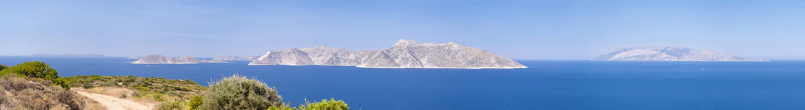 Panorama of Samos Stock Photos