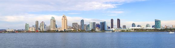 A panorama of San Diego CA. Royalty Free Stock Photo
