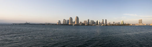 Panorama of San Diego Skyline. In California stock photo