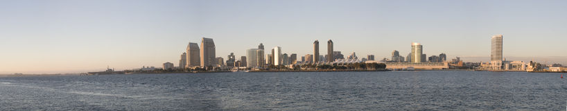 Panorama of San Diego Skyline Stock Images