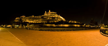 Panorama of San Felipe Castle in Cartagena de Indias Royalty Free Stock Photo