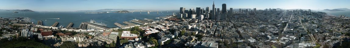 Panorama of San Francisco Royalty Free Stock Image