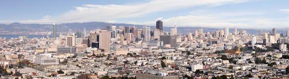 Panorama of San Francisco. A panoramic shot of the city of San Francisco royalty free stock image