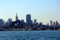 Panorama of San Francisco and Bay Bridge taken from Treasure Island Royalty Free Stock Image