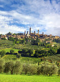 Panorama of San Gimignano, Italy Royalty Free Stock Photos