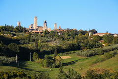 Panorama of San Gimignano Stock Image