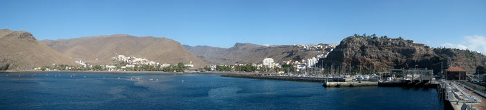 Panorama of San Jose (La Gomera island). Panorama of San Jose, capital city of La Gomera (Canary Islands, Spain Royalty Free Stock Photography