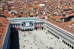 Panorama of the San Marco Square Stock Images
