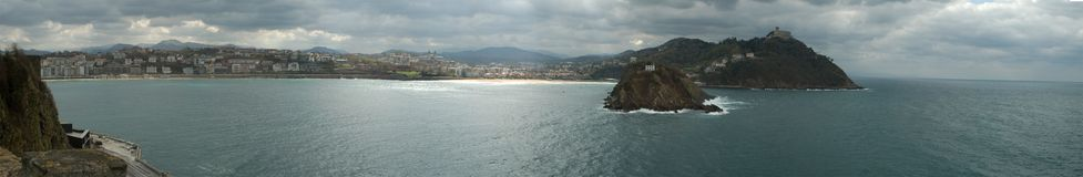 Panorama of san sebastian Royalty Free Stock Photography