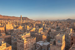 Panorama of Sanaa, Yemen Stock Images