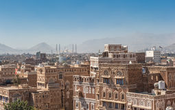 Panorama of Sanaa, Yemen Stock Image