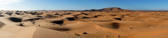 Panorama of sand dunes Royalty Free Stock Image