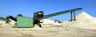 Panorama sand extractor Royalty Free Stock Image