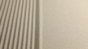 Panorama of sand left. Smooth and striped surface sand stock footage